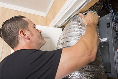 ducted gas heater installation